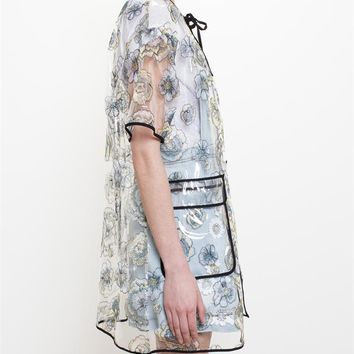 Embroidered PVC Raincoat - MSGM