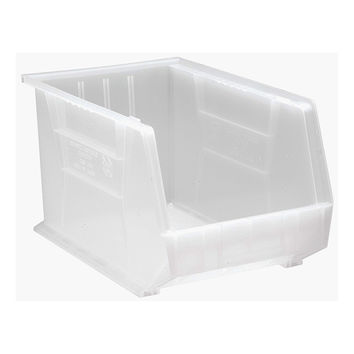 Quantum Plastic Storage Clear-View Ultra Hang and Stack Bin 18 x 11 x 10 - Pack of 4