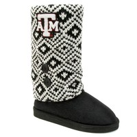 Texas A&M Aggies Sweater-Knit Microsuede Boot Slippers - Women