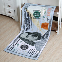 70x140cm New 100 Dollar Bill Microfiber Soft Beach Bath Towels Absorbent Quick Dry Washcloth