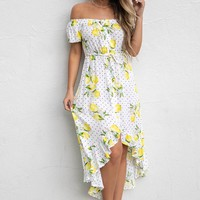 Make A Promise Hi Low Lemon Dress