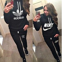PEAP Nike Casual Hoodie Top Sweater Pants Trousers Set Adidas Two-piece Sportswear