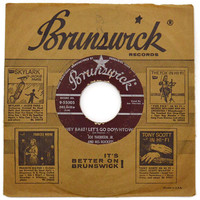 Vintage 50s Joe Therrien Jr. and His Rockets Hey Babe! Let's Go Downtown Rockabilly 45 RPM Single Record Vinyl