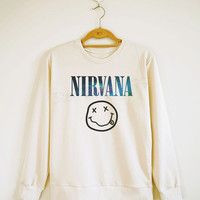 Galaxy Nirvana Shirt Alternative Rock Shirt Galaxy Sweater Sweatshirt Shirt Jumpers Shirt Long Sleeve Shirt Women Shirt Unisex Shirt S,M,L