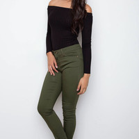 Insider Skinny Butt Lifter Jeans - Olive
