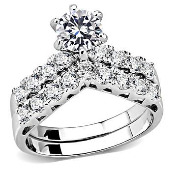 A Perfect 1CT Round Cut Russian Lab Diamond Solitaire Engagement Wedding Band Bridal Set Ring