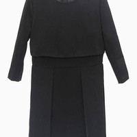 Black Double Layered Dress - Choies.com