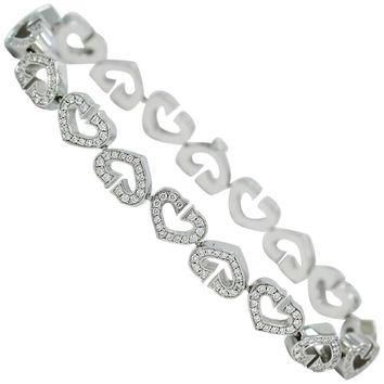 Cartier Diamond Gold Heart Link Bracelet
