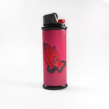 Devil Praying Hands Bic Lighter Case