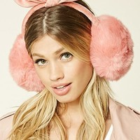 Faux Fur Bow Ear Muffs