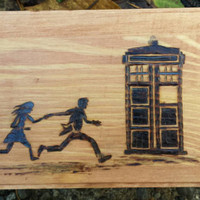 Dr who inspired storage box jewelry pyrography wood burned David Tennant whovian nerd gift geek cute tardis rose handmade