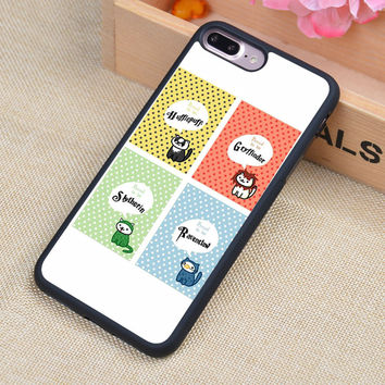 Hufflepuff Hogwarts Harry Potter Printed Soft Rubber Phone Cases For iPhone 6 6S Plus 7 7 Plus 5 5S 5C SE 4 4S Back Cover Shell