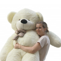 200 cm White Giant Teddy Bear 2m Huge Stuffed Plush Animals Big Soft Toy Gift for Birthday Valentine Anniversary