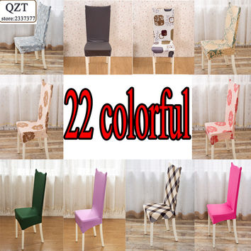 Dining Room Wedding banquet kitchen computer office For Home Chair Covers lycra print anti-pollution Spandex Strech chair cover