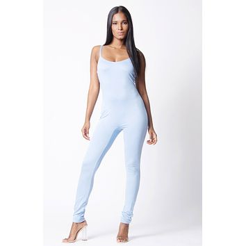 DOUBLE LAYERED SPAGHETTI STRAPS JUMPSUIT