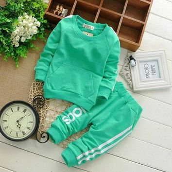 ONETOW 0-2Y Cotton Newborn Baby Boy Clothes Baby Girl Clothing Set Suit Toddler Bodysuits Products For Children Sport 2015 Spring- N5 = 1930177924