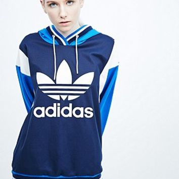 Adidas Archive Trefoil Hoodie in Blue - Urban Outfitters