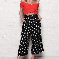 Motel Eber Highwaist Culotte Pants - Dot