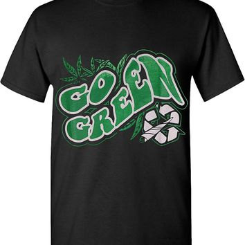 Go Green Roll A Joint Marijuana 420 Solid Graphic T-Shirts