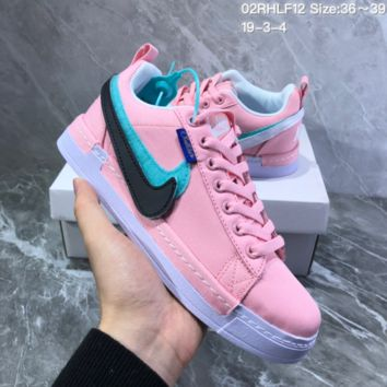 DCCK2 N823 Nike Lunar Force1 Duck Boot Magic Stick Colorful Recreational Double-hooked Canvas Board Shoes Pink
