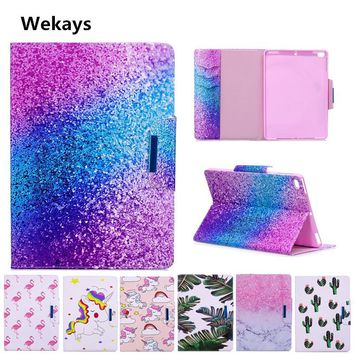 Wekays Case for Apple IPad Air 2 Cute Cartoon Flamingo Unicorn PU Flip Leather Cover Case For iPad 6/ Air2 For ipad6 model Capa