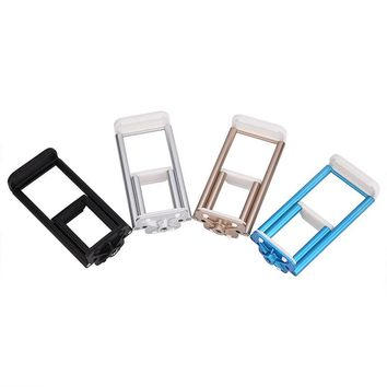 Universal 2.36-7.87 inch  2 in 1 Camera GPS Stand Clip Bracket Tripod Holder Mount Plastic + Aluminum Alloy Phone Tablet Holder