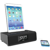 Ihome Ipad And Iphone And Ipod Dual-charging Fm Clock Radio With Lightning Dock