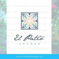OOAK Premade Logo Design - Andalusian Tile - Perfect for a wedding venue or a ceramic artist