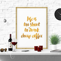 Typography wall art, inspirational, funny quote, minimalistic poster giclée print