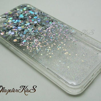 #shiny #silver #ombre #glitter #gradient #bling #sparkle #iphonecase #samsungcase