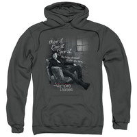 VAMPIRE DIARIES/BE YOURSELF-ADULT PULL-OVER HOODIE-CHARCOAL