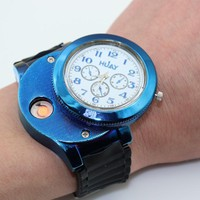 Fashion Casual Sport Wristwatch USB Lighter Watches strap Quartz Watch Men Women Jelly Cigarette Lighter