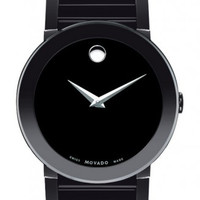 Movado Sapphire Men's All Black PVD Black Museum Dial 38mm Watch 0606307