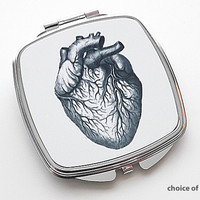 Anatomy Compact Mirror anatomical heart medical student doctor gift Choice of Image
