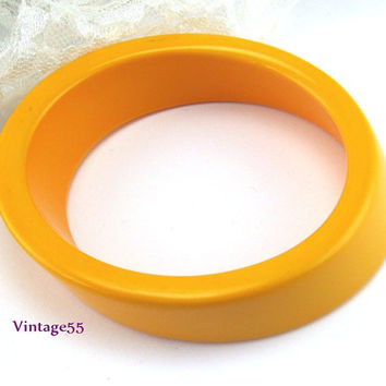 Bangle Bracelet Oval Pumpkin Orange