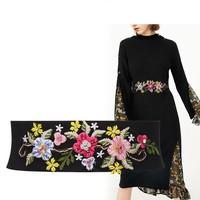Buy EMIDRE Flower Embroidered Elastic Belt | YesStyle