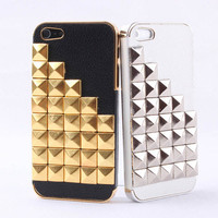 Hot Rivet on Litchi Grain Stick Handmade Hard Case For Iphone 5  from 1Point99.com