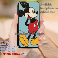 Vintage Poster Mickey Mouse iPhone 6s 6 6s+ 5c 5s Cases Samsung Galaxy s5 s6 Edge+ NOTE 5 4 3 #cartoon #animated #disney #MickeyMouse dl11