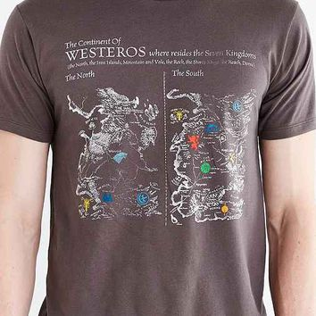 Junk Food Game Of Thrones Map Tee