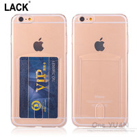 For Apple iPhone 6 6S Case Slim Crystal Clear TPU Card Slots Protective sleeve for iPhone 6 6S plus / 5 5S SE Cover Phone Cases