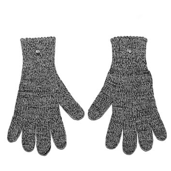 Charcoal Wool & Deerskin Palm Driver Gloves