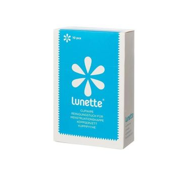 Lunette Menstrual Cup Wipes - 10 wipes