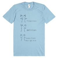 Fergalicious-Unisex Light Blue T-Shirt
