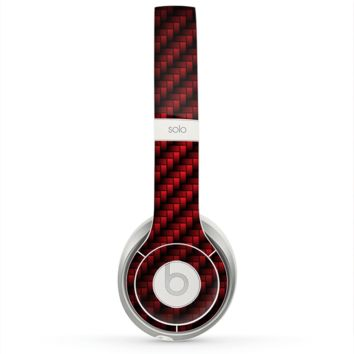 The Glossy Red Carbon Fiber Skin for the Beats by Dre Solo 2 Headphones