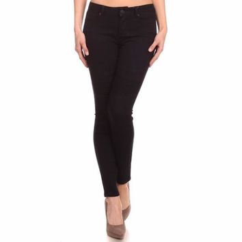 Moto Skinny Jeans in Black