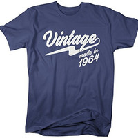 Shirts By Sarah Men's Vintage Made In 1964 T-Shirt Retro Birthday Shirts