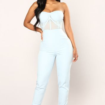 Walking On Air Jumpsuit - Blue