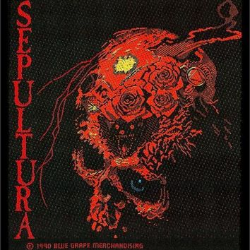 Sepultura Sew On Patch Skull Beneath The Remains Logo