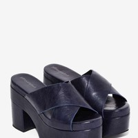 Jeffrey Campbell Cascata Leather Platform Mule