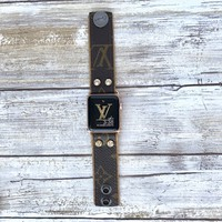 LV Skinny Two Tone Apple Watch Band
